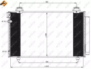 Радиатор кондиционера NRF 35592 для авто TOYOTA с доставкой-1