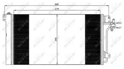 Радиатор кондиционера NRF 35622 для авто VW с доставкой-1