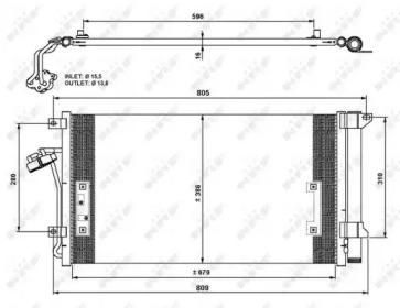 Pадиатоp Кондиционеpа NRF 35639 для авто AUDI, PORSCHE, VW с доставкой-1
