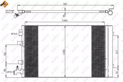 Радиатор Кондиционера NRF 35932 для авто RENAULT с доставкой-1