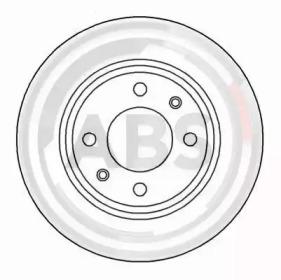 15841 A.B.S. Диск гальмівний Citroen Berlingo,Xsara, Peugeot 206,306 -1