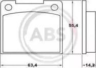 36037 A.B.S. Комплект тормозных колодок, дисковый тормоз
