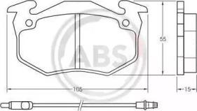 36525 A.B.S. Комплект тормозных колодок, дисковый тормоз