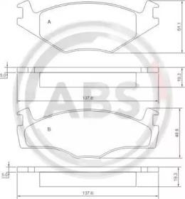 36536 A.B.S. Комплект тормозных колодок, дисковый тормоз