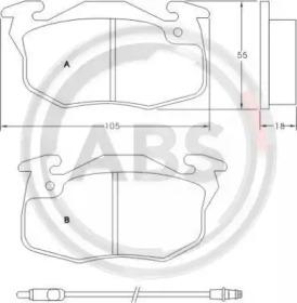 36565 A.B.S. Комплект тормозных колодок, дисковый тормоз