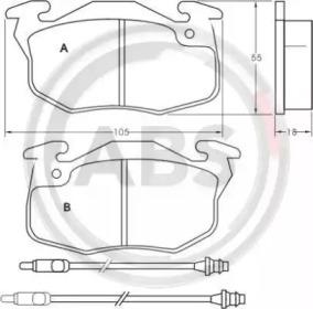 36766 A.B.S. Комплект тормозных колодок, дисковый тормоз