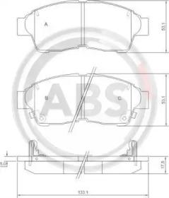 36777 A.B.S. Комплект тормозных колодок, дисковый тормоз