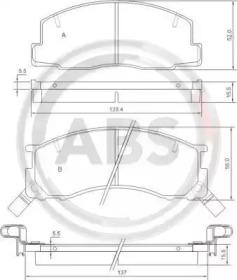 36829 A.B.S. Комплект тормозных колодок, дисковый тормоз