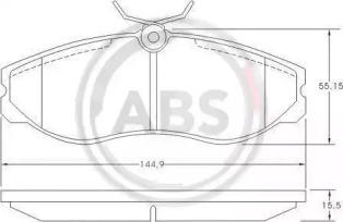 Колодка торм. FORD передн. (пр-во ABS) A.B.S. 36861