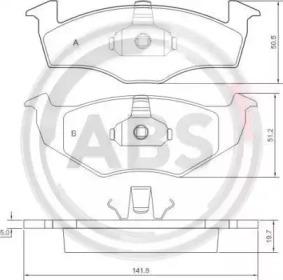 36970 A.B.S. Гальмівні колодки P VW Golf III/Vento 95-