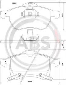 37076 A.B.S. Комплект тормозных колодок, дисковый тормоз