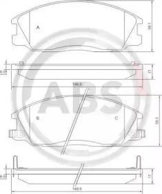 37242 A.B.S. Комплект тормозных колодок, дисковый тормоз