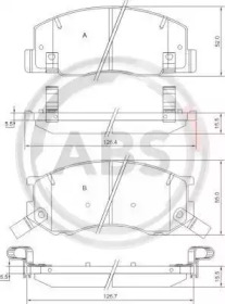 37399 A.B.S. Комплект тормозных колодок, дисковый тормоз