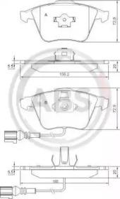 37426 A.B.S. Комплект тормозных колодок, дисковый тормоз