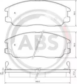 37566 A.B.S. Комплект тормозных колодок, дисковый тормоз