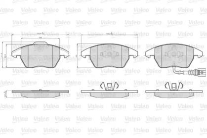 872587 VALEO KLOCKI HAM. VW P. CADDY 1,2-2,0 04-