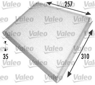 698702 VALEO Фильтр, воздух во внутренном пространстве