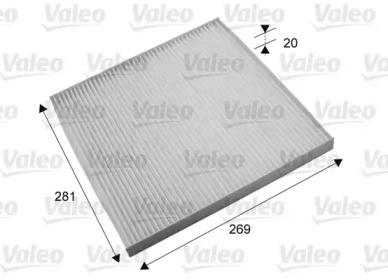 715703 VALEO Фільтр салона (вугільний) Nissan Murano 3.4 08-/Teana II 2.3/2.5 08-