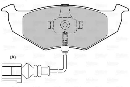 598488 VALEO Комплект тормозных колодок, дисковый тормоз