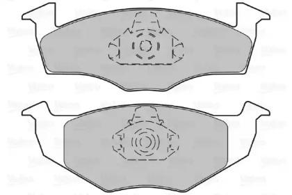 598066 VALEO Комплект тормозных колодок, дисковый тормоз