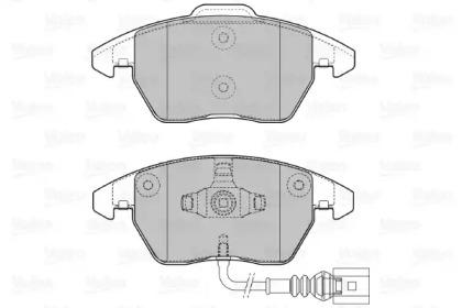 598635 VALEO klocki hamulcowe AUDI A1 (2010>) 1.4TFSI , 2.0TDI|A3 (2003>2