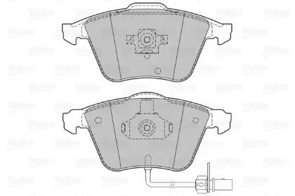 598779 VALEO Комплект тормозных колодок, дисковый тормоз