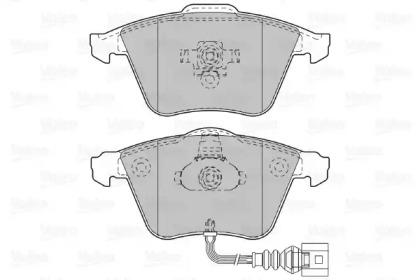 598863 VALEO Комплект тормозных колодок, дисковый тормоз