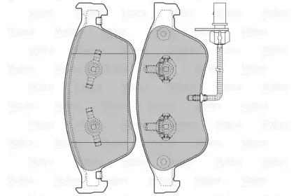 598845 VALEO Комплект тормозных колодок, дисковый тормоз