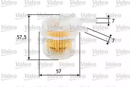 587017 VALEO FILTR PALIWA TOYOTA COROLLA 1.3/1.6 83-92