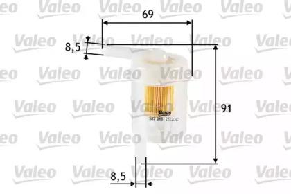 587048 VALEO Топливный фильтр