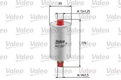 587207 VALEO Топливный фильтр