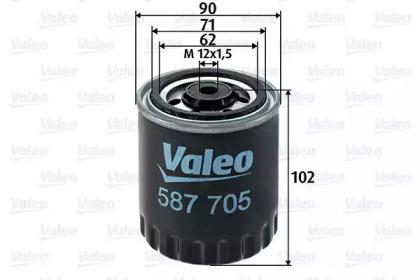 587705 VALEO FILTR PALIWA DB W124,SPRINTER 208D-412