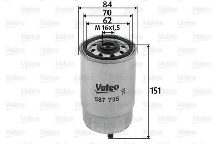 587735 VALEO Топливный фильтр