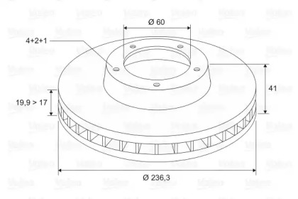 186188 VALEO Тормозной диск