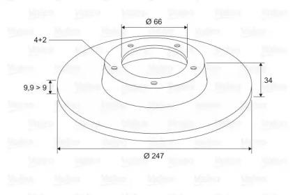 186200 VALEO Тормозной диск