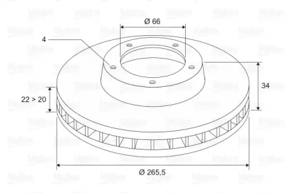 297695 VALEO Тормозной диск