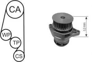 WPK153002 AIRTEX Водяной насос + комплект зубчатого ремня