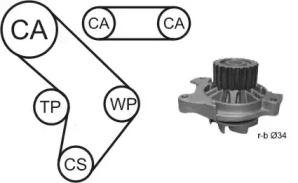 WPK9274R06 AIRTEX Водяной насос + комплект зубчатого ремня