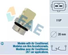 Датчик температуры FAE 35310 для авто AUDI, SEAT, SKODA, VW с доставкой-1