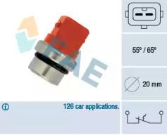 термовыключатель, сигнальная лампа охлаждающей жидкости FAE 35320 для авто SEAT, SKODA, VW с доставкой-1