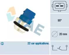 35635Fae_Датчик Температуры Охл.жидк.! С Белым Кольцом Vw T4 2.5-2.8I2.4D2.5Td 90 FAE 35635 для авто VW с доставкой-1