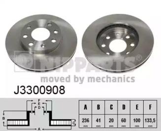 J3300908 NIPPARTS Тормозной диск