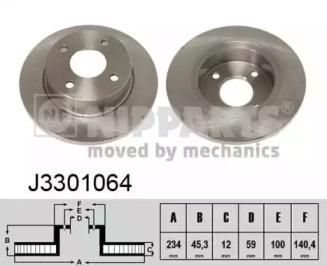 J3301064 NIPPARTS Тормозной диск