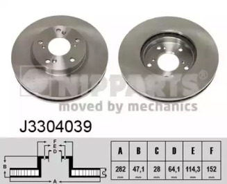J3304039 NIPPARTS Тормозной диск