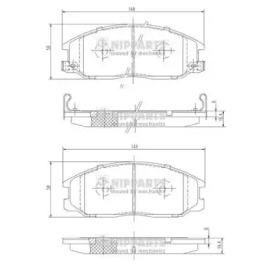 J3600526 NIPPARTS Комплект тормозных колодок, дисковый тормоз
