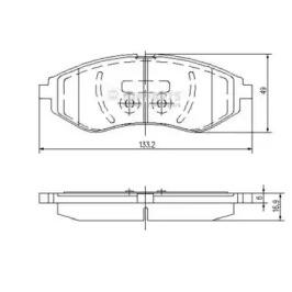 J3600911 NIPPARTS Комплект тормозных колодок, дисковый тормоз