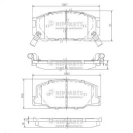 J3602031 NIPPARTS Комплект тормозных колодок, дисковый тормоз