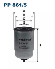 PP8615 FILTRON Топливный фильтр