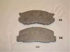 5002239 ASHIKA Комплект тормозных колодок, дисковый тормоз
