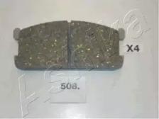 5005508 ASHIKA Комплект тормозных колодок, дисковый тормоз